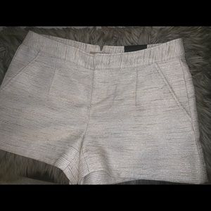 Banana republic cream/gold shorts size 10 new
